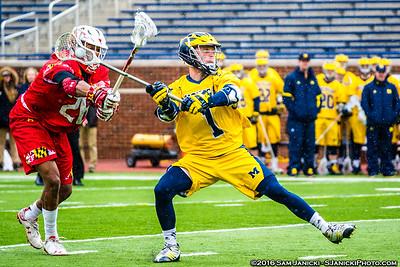 4-2-16 Michigan Men's Lacrosse Vs Maryland