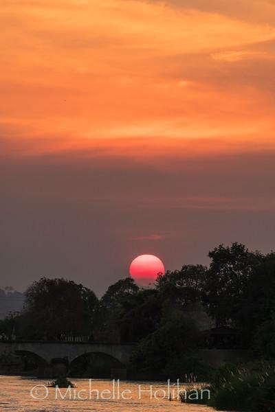 Sunset on the Mekong River, Don Khon, Laos