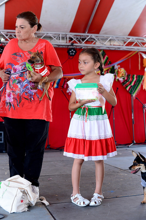. The San Gabriel Mission holds their annual Children and Pet Costume Contest and a Blessing of the Animals during their 242nd Annual La Fiesta de San Gabriel Saturday, August 31, 2013. The fiesta runs through Sunday. (Photo by Sarah Reingewirtz/Pasadena Star-News)