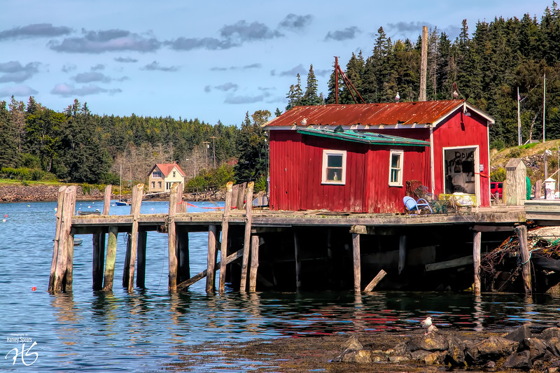 Red Shack on Port Clyde Harbor, ME