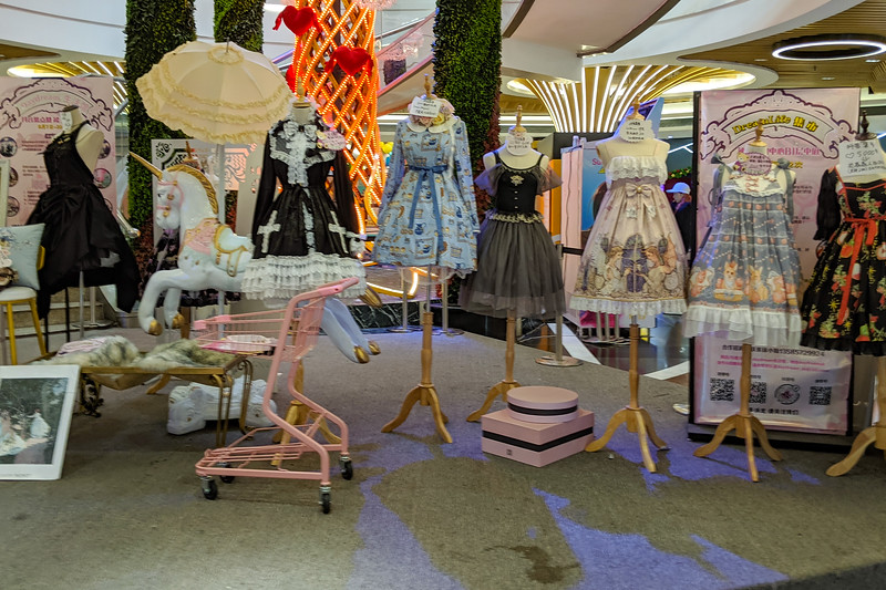 Japanese lolita display. I don't know why, but it kinda makes sense that China would like the lolita costume culture too.