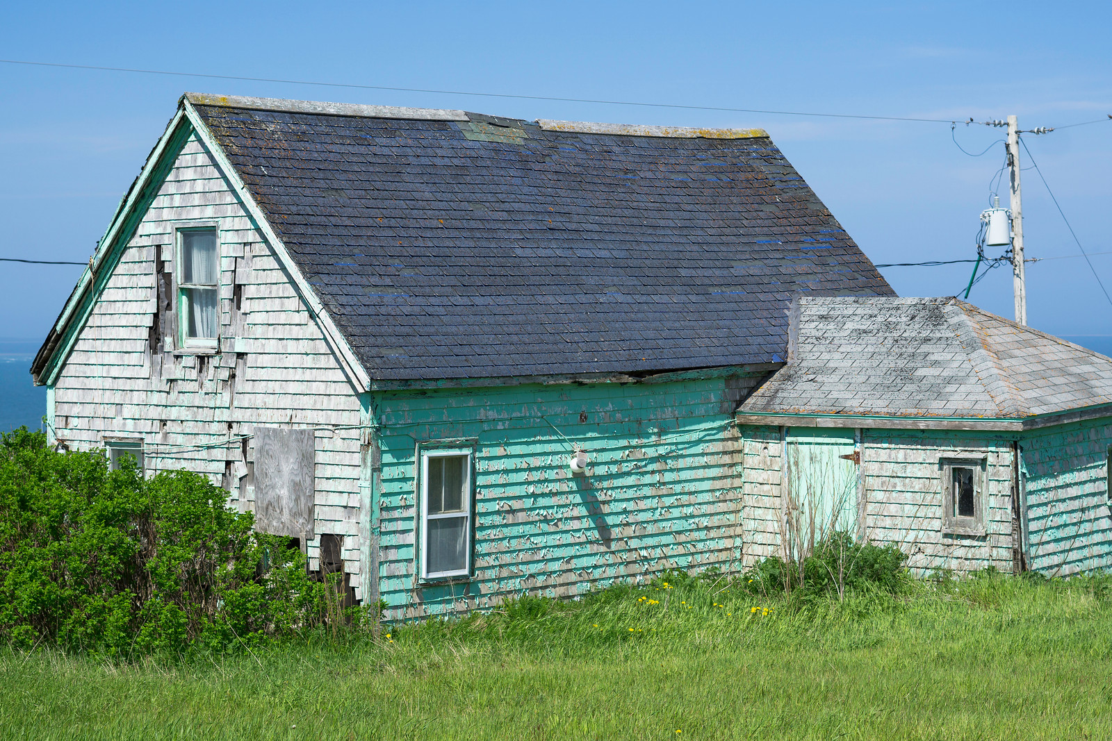 Worn but still beautiful on the isolated Île Entrée