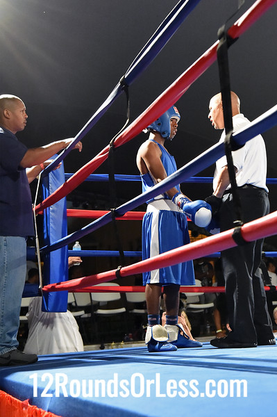 Bout #14 = Main Event, Eric Miller, Akron/BSBC -vs- Auriel Love, Cleveland/Old School Boxing, 123 lbs