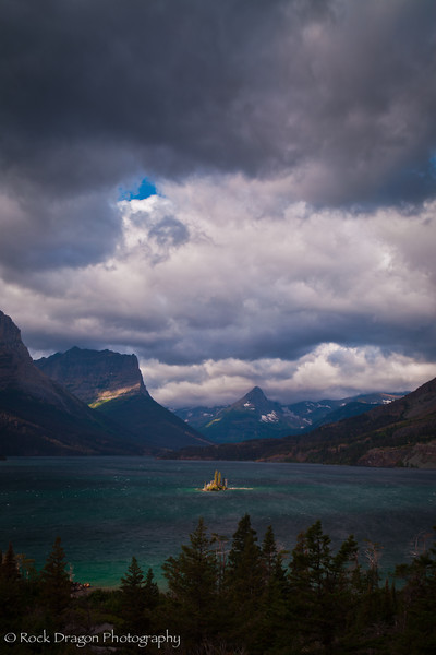 Wild Goose Island in Glacier National Park, Montana.