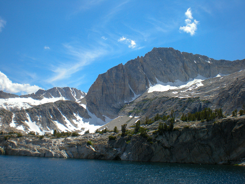 Steelhead Lake (el. 10,270 ft.) with North Peak (el. 12,242 ft.) above.