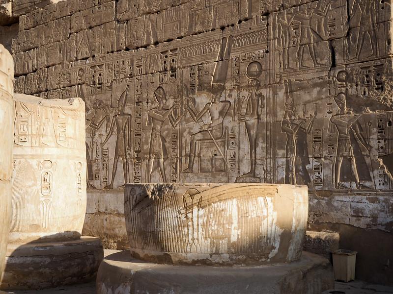 Madinat Habu Temple in Luxor, Egypt