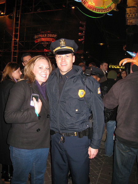 Lauren (note the officer is already wearing one of the worlds smallest handcuffs)