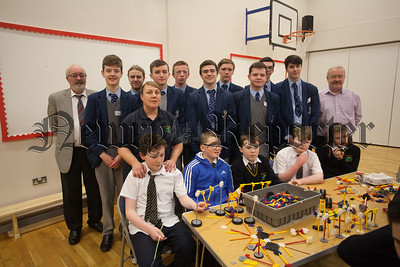 Students from St Colmans College are pictured with Students from Rathore School during the Stem Project organised by Sentinus. Also pictured are Tracy Murphy, Dominic McCartan and Noel Keenan. R1608015
