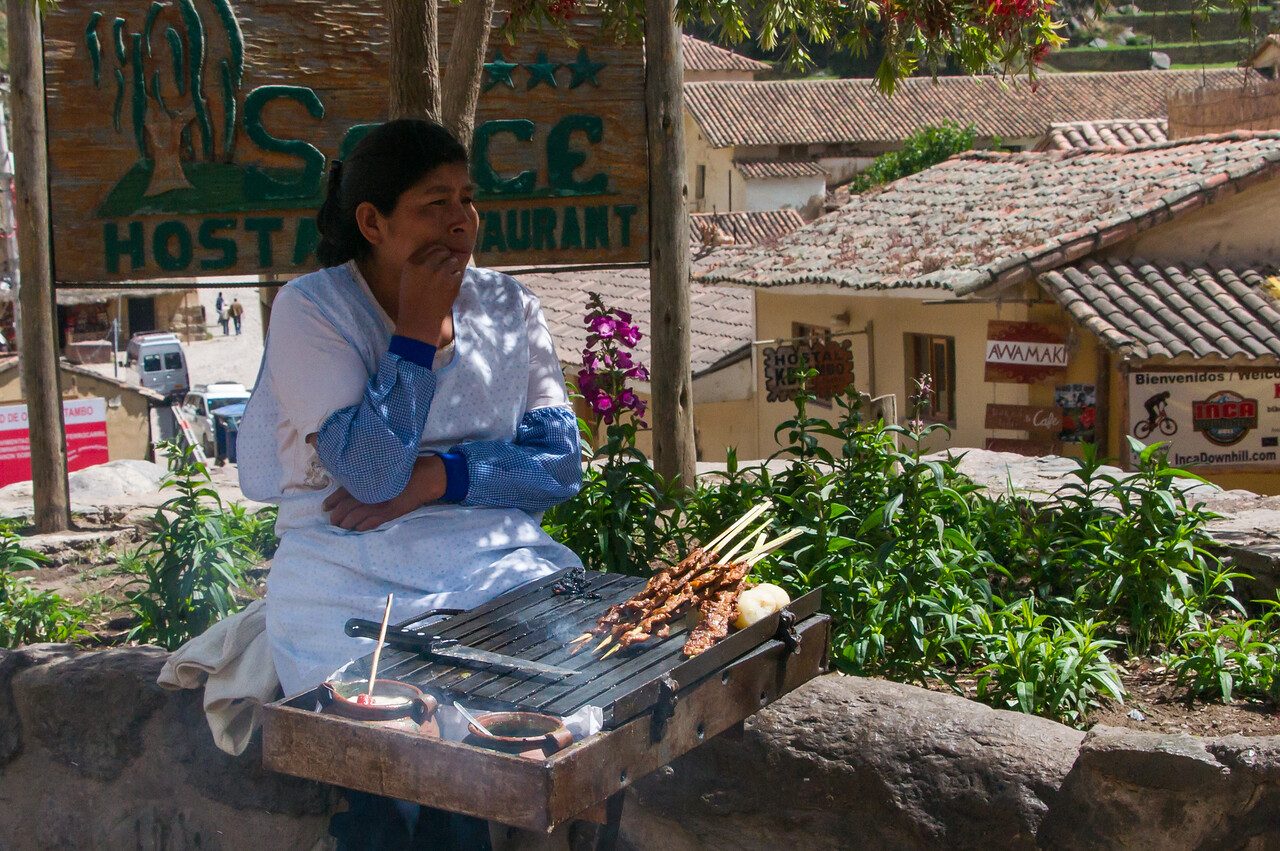 Street vendor, Ollantaytambo, Sacred Valley.