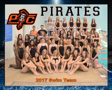 2017 Platte County Girls Swim Team