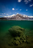 """Sunken Shores"", Lake Minnewanka, Banff National Park, Alberta, Canada."
