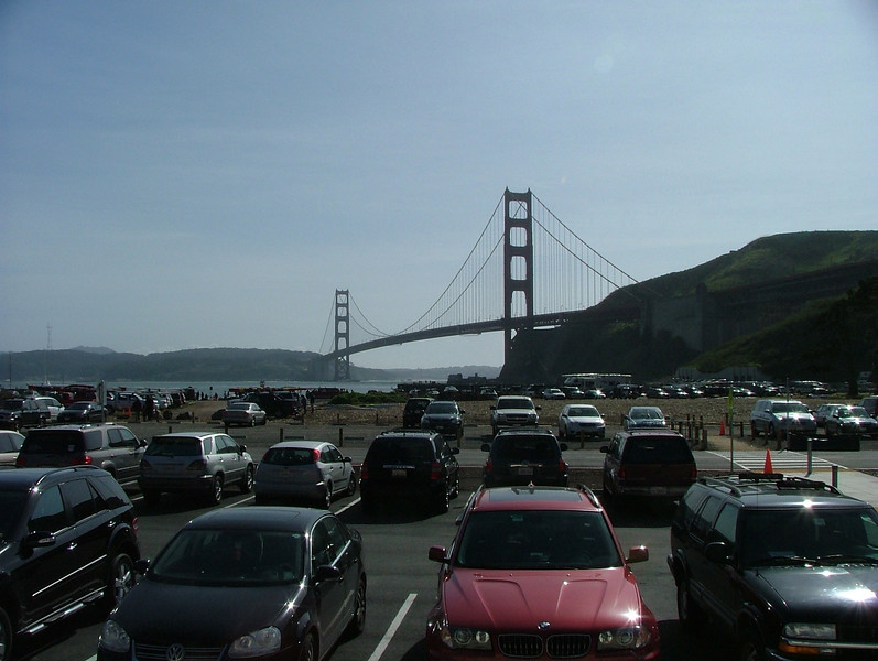 View from the BADM parking lot (the actual GG Bridge)