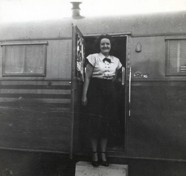 Patricia - door of trailer home
