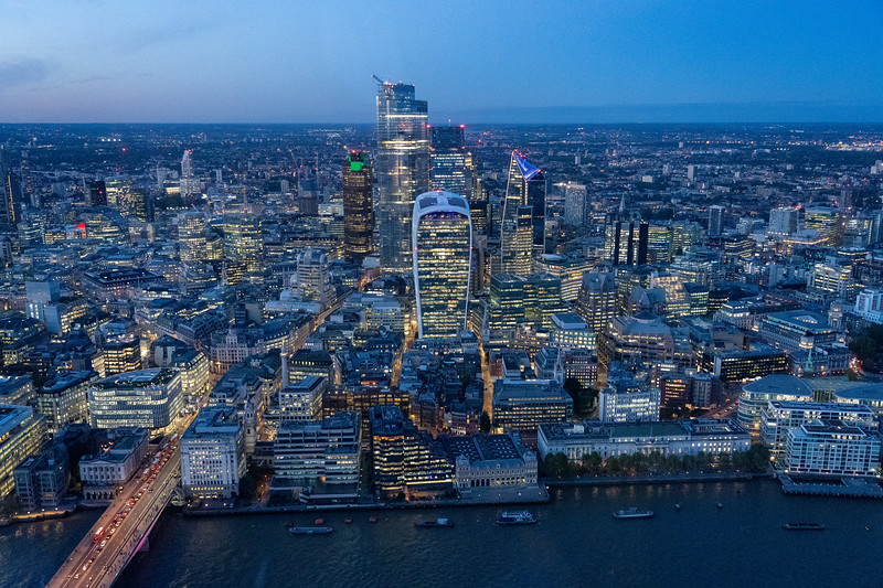 View from The Shard at night
