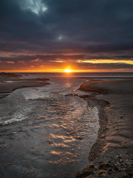 Sunset on Iceland River   Photography by Wayne Heim