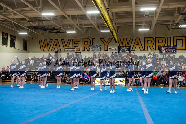 Cheer league meet at Waverly - Dewitt