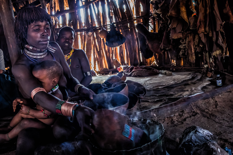 Sitting with the Hamer - Ethiopian tribes