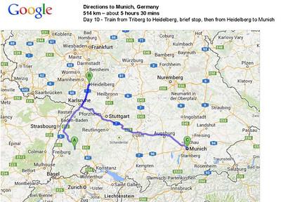 Day 10 - Triberg to Munich