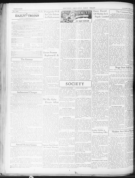 Daily Trojan, Vol. 22, No. 102, March 09, 1931