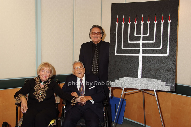 """THE MENORAH"" -A PAINTING BY David Rappaport at the  Peck Jewish Chapel at The Mount Sinai Medical Center on 10-16-07."