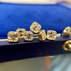 .78-.82ctw Asscher Stud Earrings, in Yellow Gold 14