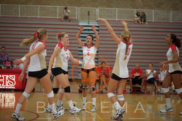 CCHS vs SFC Varsity Volleyball 9-14-2012