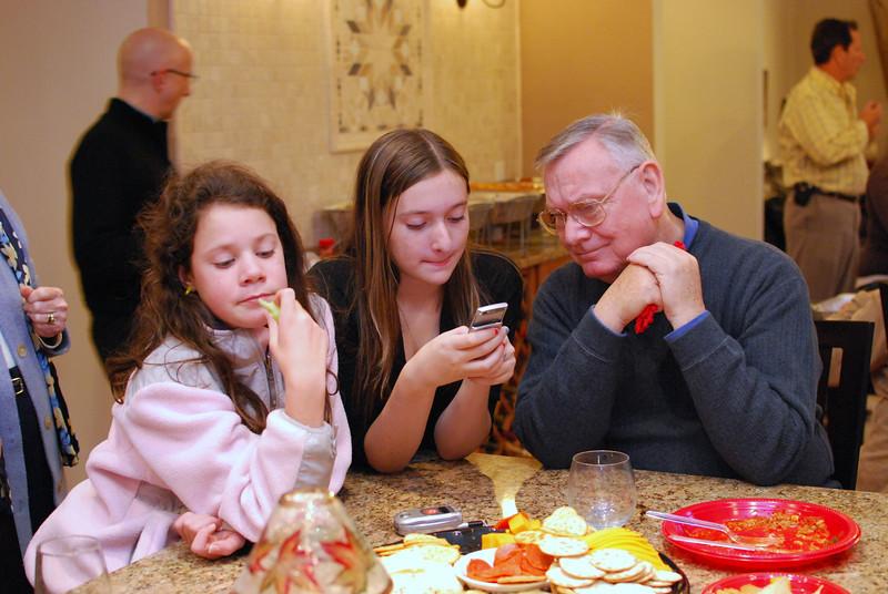 Julia, Faith wih their Grandpa (Wally)