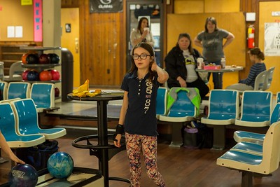 Maddie at the bowling alley