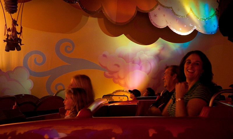 On a ride at Epcot.