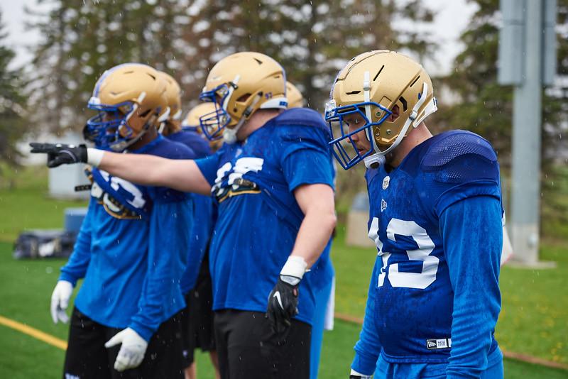 #43 Thiadric Hansen during Winnipeg Blue Bombers rookie camp Wednesday May 15, 2019.