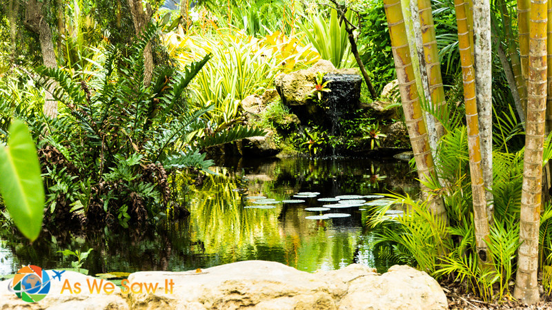 Lakes surrounded by colorful vegetation make the Naples Zoo inviting for adults too!