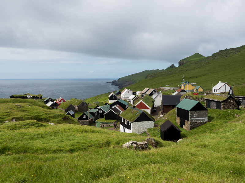 Village of Mykines in the Faroe Islands