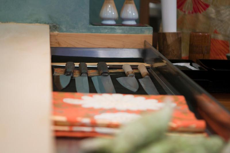 Hiro's knives.