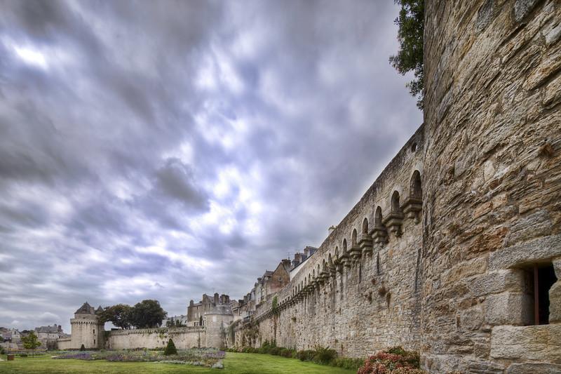 Battlements, town of Vannes, departament de Morbihan, Brittany, France