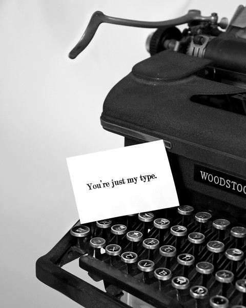 you're just my type typewriter lilacpop.jpg