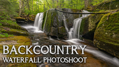 Backcountry Waterfall Photoshoot | Adirondack Mountains