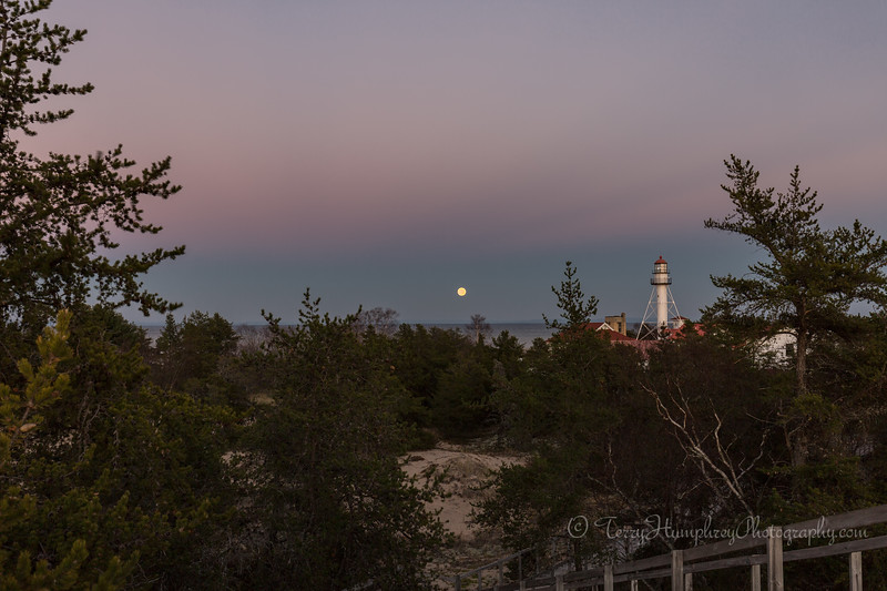Moon Rising at Whitefish Point
