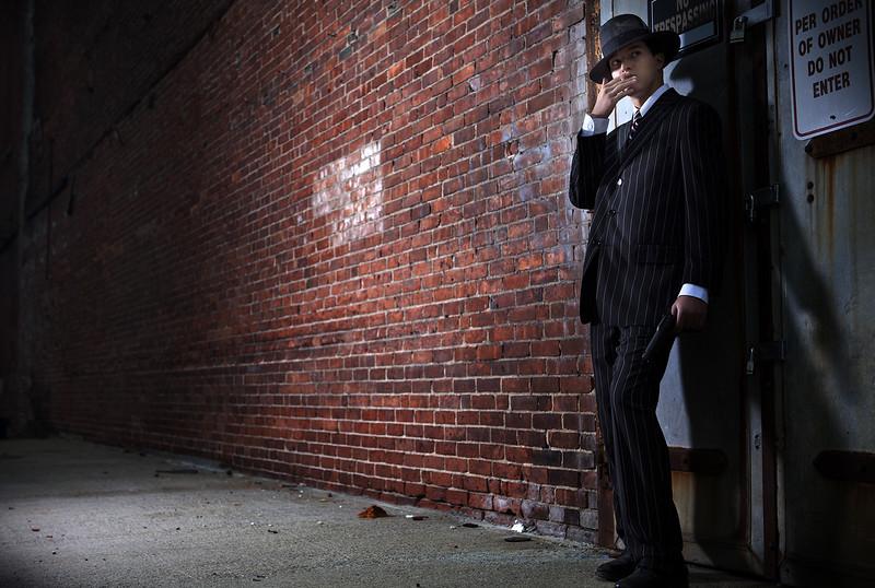 Forties style film noir gangster