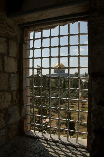 Dome of the Rock as seen from window - Jerusalem, Israel