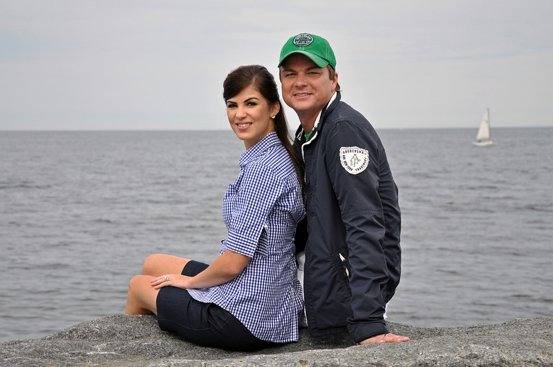 Scituate - Ronald and Heather sitting on jetty.jpg