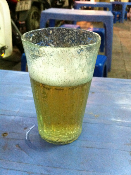 Fresh beer: 25 cents. Nice too. If that doesn't sell Hanoi to beer lovers, nothing will
