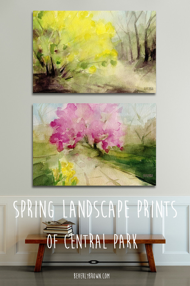 Spring landscape canvas wall art prints of Central Park, NYC