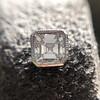 .54ctw Asscher Cut Diamond Bezel Stud Earrings, Platinum 1