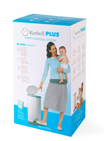 Korbell_Nappy_Bin_Packaging_Shot_Plus_26L_Single_Refill_Front_Angle.jpg