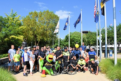 First annual pedal with the Police