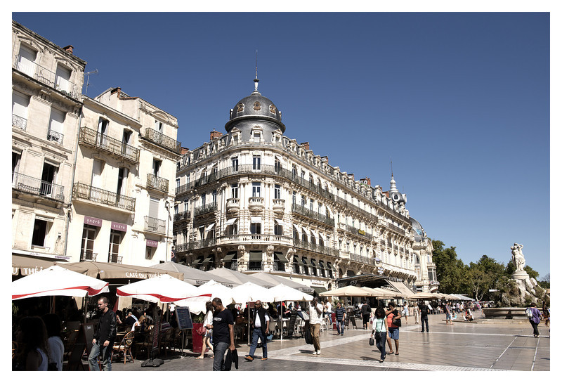 Square in Montpellier.
