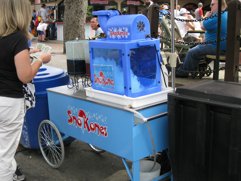 There's a new Sno Kone cart next to International Food Festival. Sno Kones are $3.50.