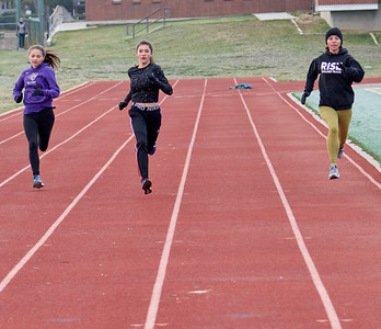 Three brave girls, strides and drills