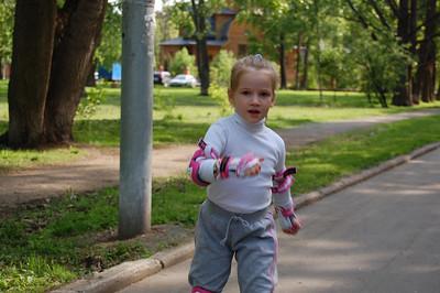 2011-05-20, Olya on roller skates