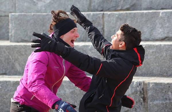 Caro og Jose jubler for finale plass